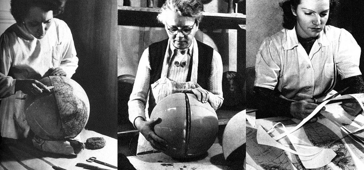 Globenherstellung um 1950