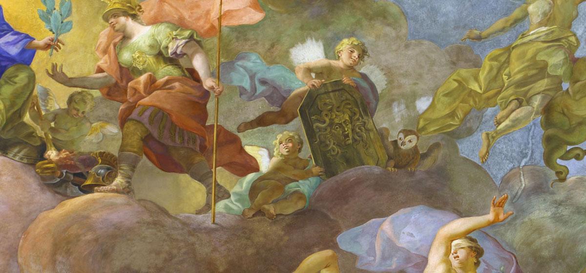 Deckengemälde Perseus & Medea