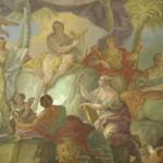 Apoll und die 9 Musen im Fresko
