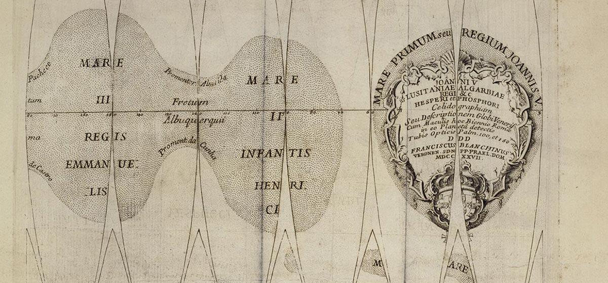 Venus-Globuskarte